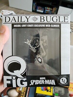 Spiderman Q Fig Loot Crate Exclusive Daily Bugle (black and white) Vinyl Figure