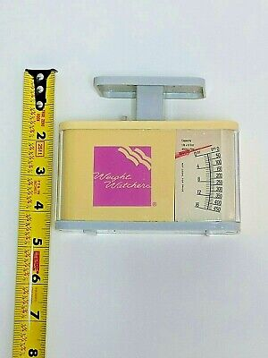 Vintage Weight Watchers Yellow Mechanical Food Scale Made in 2000