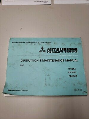 Mitsubishi Forklift Fb16kt Fb18kt Fb20kt Operation And Maintenance Manual