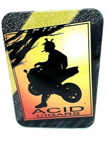 Unique Acid Cigars Great Motorcycle Graphics Tin Storage Box