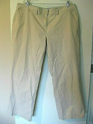 TOMMY HILFIGER Beige/ Khaki Women's Cotton Pants Austin Fit Size 22