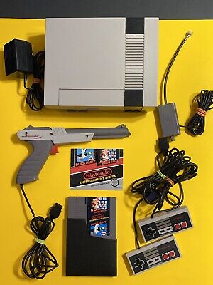 ORIGINAL NES NINTENDO 💯 COMPLETE WORKING GAME SYSTEM 🔥 ACTION SET MARIO BROS.