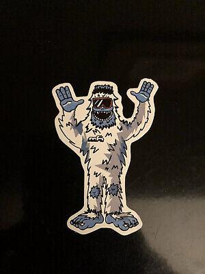 Abominable Snowman Bigfoot Decal Sticker Mountains High Sasquatch Yeti Hands Up