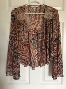 Forever 21 sheer open front kimono with bell sleeves