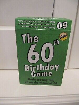 The New 60th Birthday Game: Brain-Teasing Fun, All on the theme of 60 * New