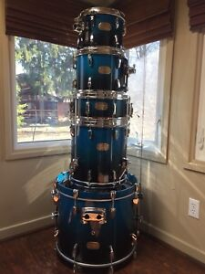 Pearl Session Custom Drums Blue Fade Finish Fusion Sizes