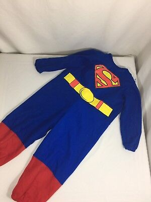 Supper Man Kids Halloween Costume Size Small Blue Long Sleeve Unisex Bin78#32 - Halloween Supper