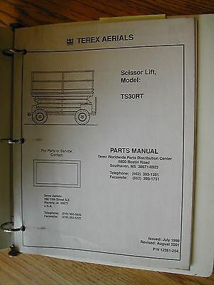 Terex Ts30rt Parts Manual Book Catalog Scissor Lift Rough Terrrain 12261-254