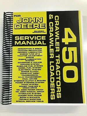Service Manual For John Deere 450 Crawler Tractor Crawler Loader Sm-2064
