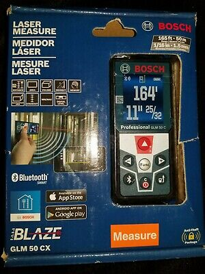 Bosch GLM 50 CX 165ft Laser Measure with Bluetooth and Full-Color Display *NEW*