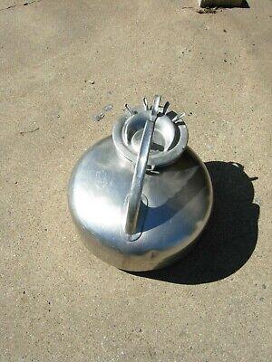 Vintage Surge Milker Stainless Steel Bucket With Lid And Gasket