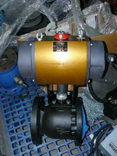 "Flowserve Worcester Series 39 Model 33 SW 120A R6 Pneumatic Ball Valve 4"" 80 PSI"