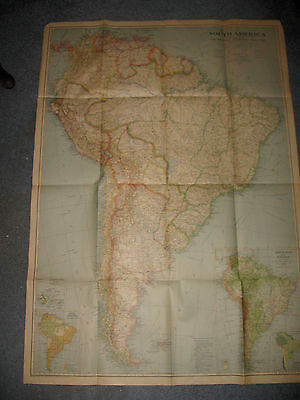 1937 Map of South America