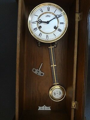 AMS Pendel Wanduhr Pendeluhr Regulator Antik Mechanisch Mahagoni Holz Uhr Theseu