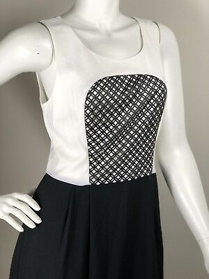 Beautiful Kensie Dress, With Faux Leather Appliqué, Two Tone Dress, Size S, 8 UK