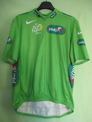Maillot Cycliste Vert Tour de France PMU 2011 Nike vintage jersey -...