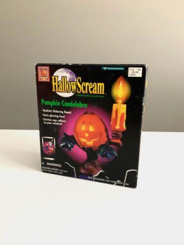 New Sealed Vintage HallowScream Trendmasters 1997 Pumpkin Candelabra