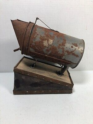 Vintage Bee Hive Smoker Bee Supplies Metal W Leather Bellows