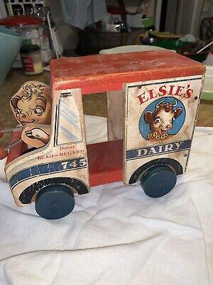 Rare Elsie Borden Fisher Price Milk Truck-Patented 1930s
