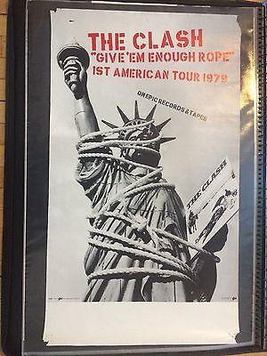 THE CLASH Original Give 'Em Enough Rope US Tour Poster 1979 RARE!!
