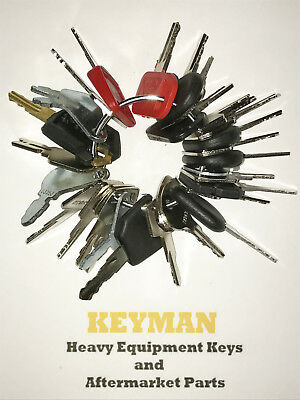 30 Keys Heavy Equipment Construction Ignition Key Set
