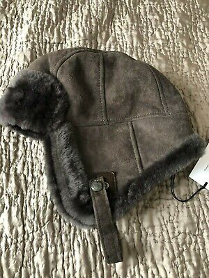 Authentic  PAUL SMITH  BROWN Sheepskin Trapper HUNTER CHAPKA  HAT SIZE M  £250