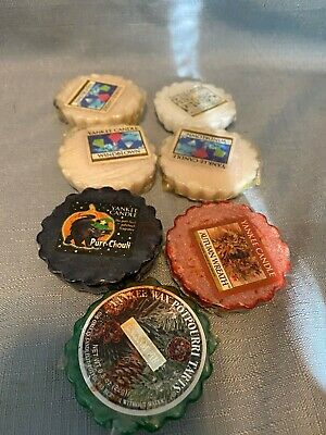 Yankee Candle Wax Potpourri Tarts Lot of 7 Mixed Scents fall/winter