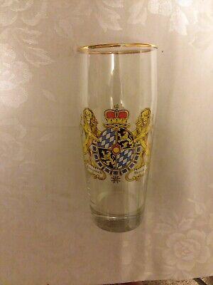 German Gold Rim Beer Glass Königreich Bayern 7 1/2 × 3 1/4 Preowned