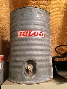 Galvanized Igloo Water Cooler