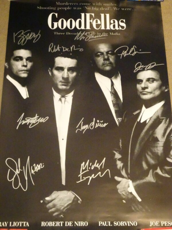 Goodfellas 1990 Signed Movie Poster 10 sigs!!! w/ Liotta, Sirico, Jackson!!!