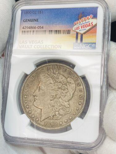 1890 CC Morgan Dollar NGC VEGAS COIN VAULT COLLECTION GENUINE KEY DATE CARSON - $368.00