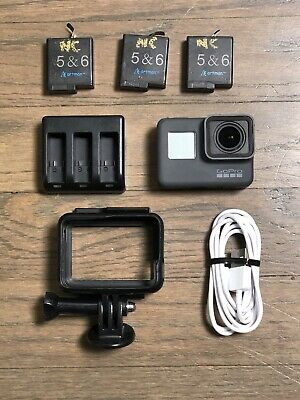 GoPro Hero 5 Black W/ 3 Batteries Skeleton Case And Cable Action Camera 4K #1