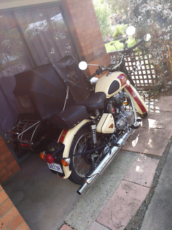 Royal Enfield and sidecar as new