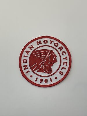 """Vintage Indian Patch 3.5"""" Round 1901 Motorcycles"""