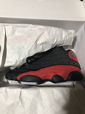 Air Jordan 13 XIII Retro Bred Mens 414571-004 Black True Red Shoes Size 7.5
