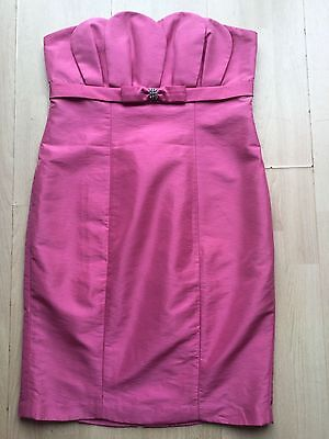 New JS Boutique by House of Fraser women strapless party dress size 12