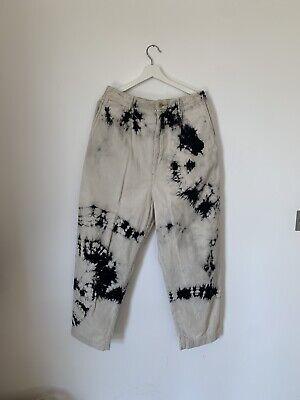 Kapital Ashbury Wide Leg Tie Dyed Cotton Corduroy Trousers LARGE