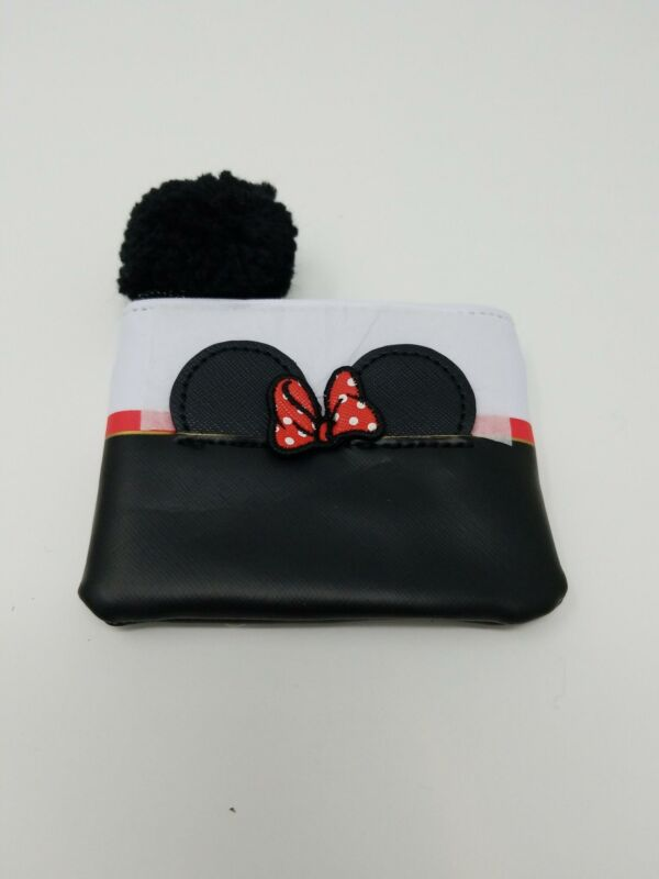 Loungefly x Disney Minnie Mouse Coin Purse with Pom Pom Zipper New With Tags