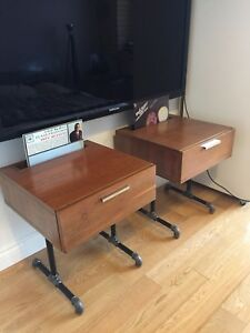 VINTAGE STEREO ENTERTAINMENT STANDS MID CENTURY MODERN TABLES