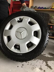 4 winter tires, 16 inch rims, Mercedes b200 or equivalent