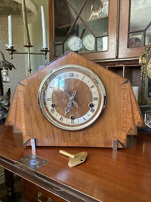 1930's Enfield Art Deco Chiming Westminster Mantel Clock