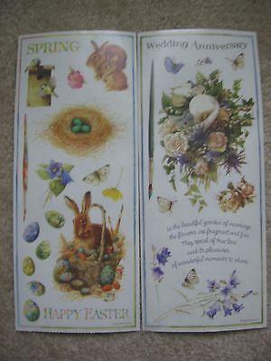 Marjolein Bastin Stickers Easter Bunny Wedding Anniversary Flowers Paint Brush - Anniversary Stickers