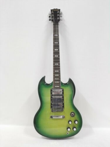 Haze 340ATGN Mahogany Body & Neck Electric Guitar,Green Flame Maple+Free Gig Bag