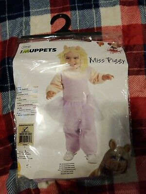 New Disney Muppets Baby Girl Miss Piggy Halloween costume Size Newborn 0/6 - Newborn Girl Halloween Costumes