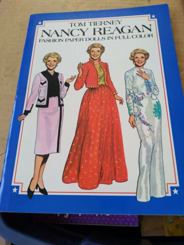 Nancy Reagan Paper Dolls. 1 Doll. 31 outfits. Tom Tierney. UNCUT. Dover. c2