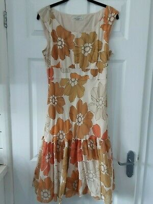 Laura Ashley silk blend vintage dress size 10