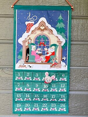Vintage Avon Countdown to Christmas Advent Calendar w/ Original Mouse 1987
