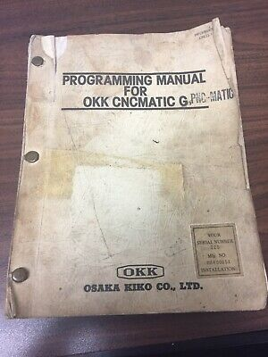 Programming Manual For Okk Cncmatic G