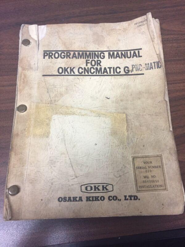 Programming Manual for OKK CNCMATIC G