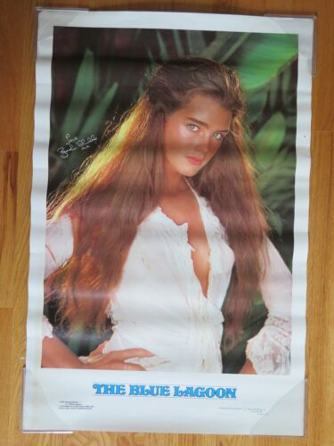 """1980 BROOK SHIELDS """"The Blue Lagoon"""" Pin-Up Poster"""